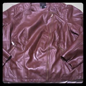 Beautiful Fall brown Cognac tone moto jacket